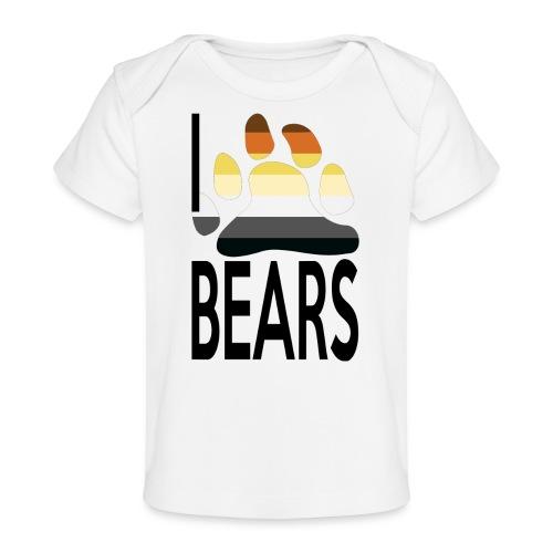 I love bears - T-shirt bio Bébé