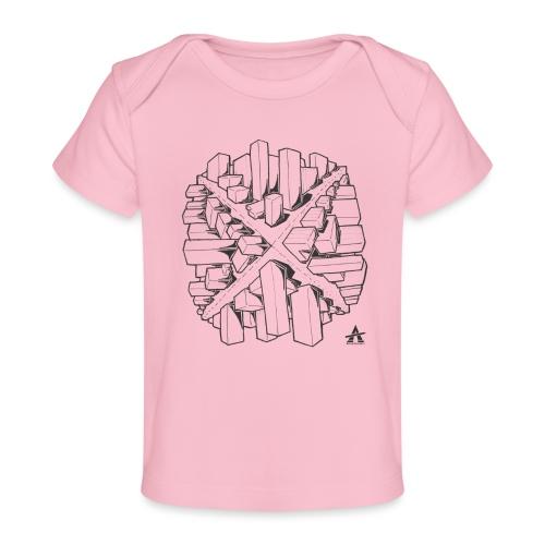 croix en perspective - T-shirt bio Bébé