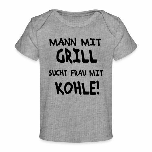 Mann mit Grill - Baby Bio-T-Shirt