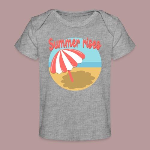 Summer rises parasol sur une plage / mer ciel été - T-shirt bio Bébé