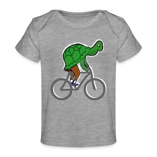 Schildkröte fährt Rad - Baby Bio-T-Shirt