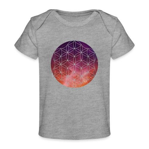 FlowerOfLife Warm - Baby bio-T-shirt