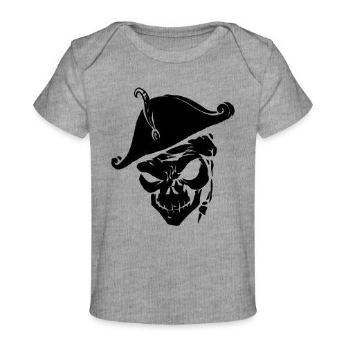 pirate skull - Baby bio-T-shirt