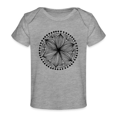 Black Frankie Mandala - Organic Baby T-Shirt