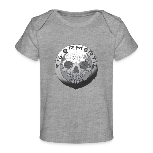 Rigormortiz Black and White Design - Organic Baby T-Shirt