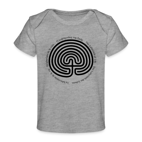 Labyrinth tria - Baby Bio-T-Shirt