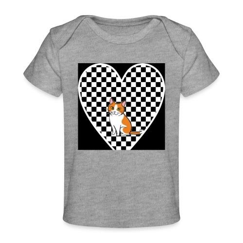 Charlie the Chess Cat - Organic Baby T-Shirt