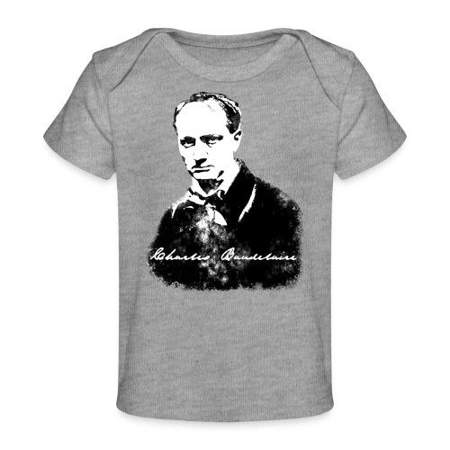 Baudelaire (fond blanc) + signature - T-shirt bio Bébé