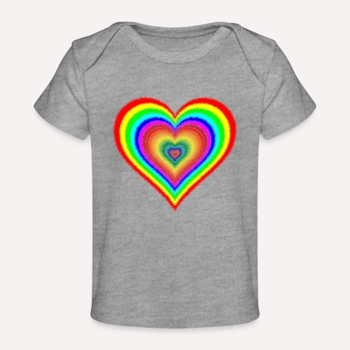 Heart In Hearts Print Design on T-shirt Apparel - Organic Baby T-Shirt
