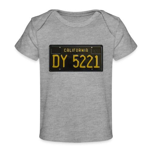 CALIFORNIA BLACK LICENCE PLATE - Organic Baby T-Shirt