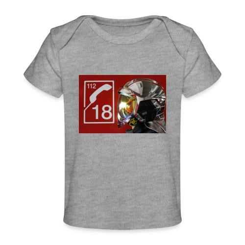 pompier 18 - T-shirt bio Bébé