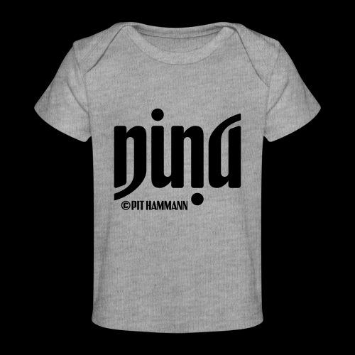 Ambigramm Nina 01 Pit Hammann - Baby Bio-T-Shirt