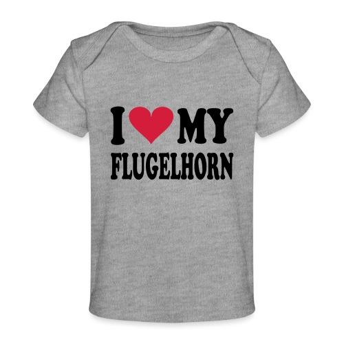 I LOVE MY FLUGELHORN - Økologisk baby-T-skjorte