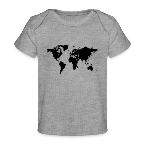 World Map - Baby Bio-T-Shirt