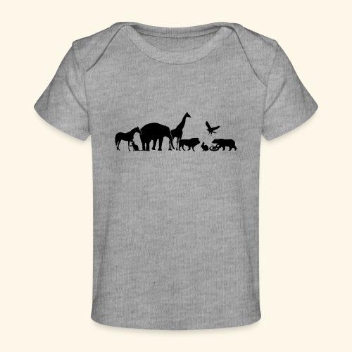 Silhouetten von Tieren - Baby Bio-T-Shirt