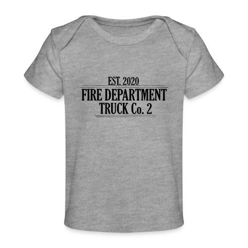 Truck Co.2 - BLACK - Økologisk T-shirt til baby