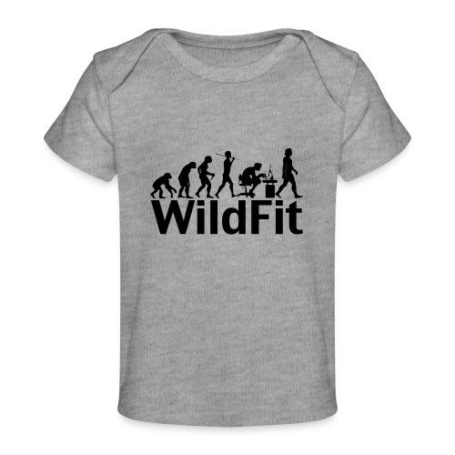WildFit Logo Evolution in Schwarz - Baby Bio-T-Shirt