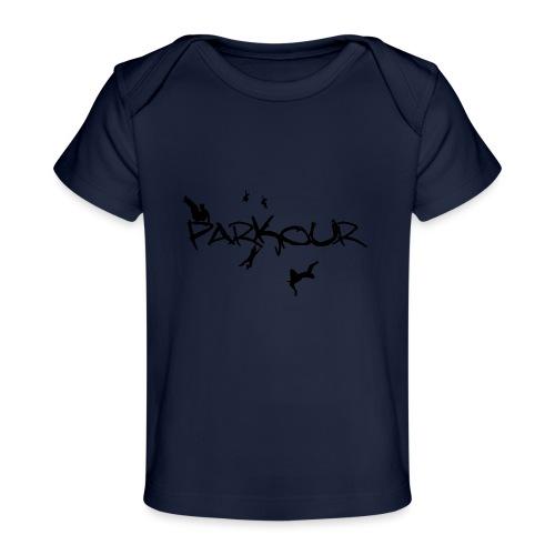 Parkour Sort - Økologisk T-shirt til baby