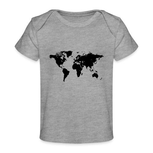 World Map - Baby Bio-T-Shirt