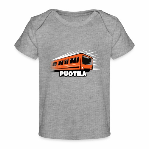 HELSINKI PUOTILA METRO T-Shirts, Hoodies, Gifts - Vauvojen luomu-t-paita