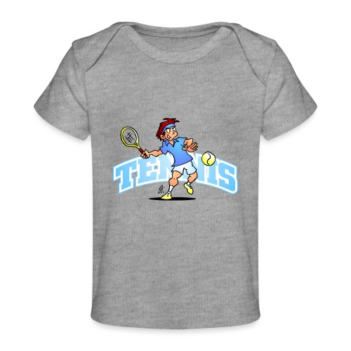 Tennis IV txt fc - Organic Baby T-Shirt