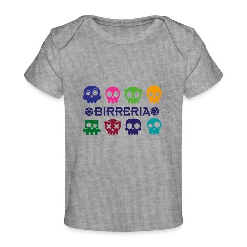 Kids color Skulls - Baby Bio-T-Shirt