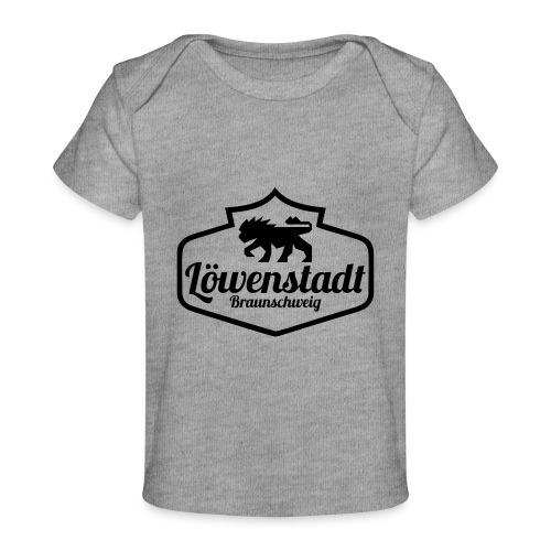 Löwenstadt Design 1 schwarz - Baby Bio-T-Shirt