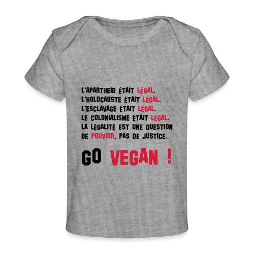 GO VEGAN - T-shirt bio Bébé