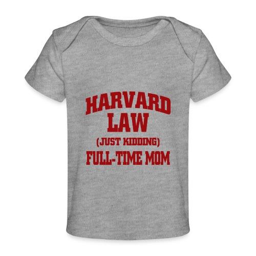 harvard law just kidding - Ekologiczna koszulka dla niemowląt