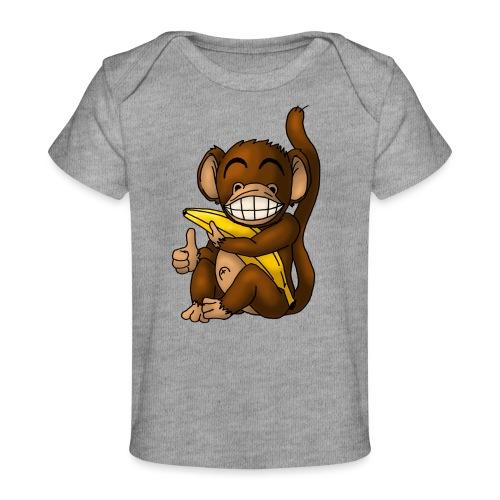 Super Fröhlicher Affe - Baby Bio-T-Shirt