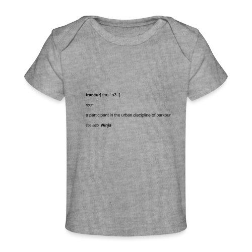 Traceur dictionary see also ninja - Økologisk T-shirt til baby