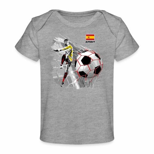 FP22F 02 SPAIN FOOTBALL - Vauvojen luomu-t-paita