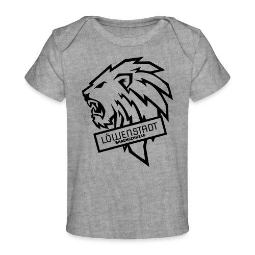 Löwenstadt Design 9 schwarz - Baby Bio-T-Shirt