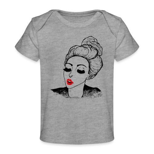 Vintage Retro Girl Kiss message - Organic Baby T-Shirt