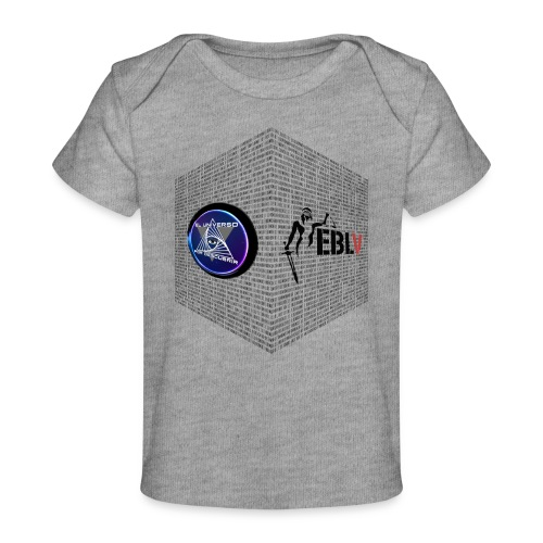 disen o dos canales cubo binario logos delante - Organic Baby T-Shirt