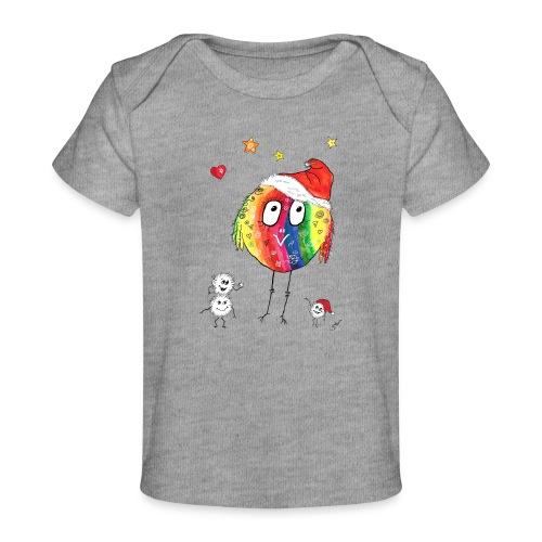 Happy Weihnachtskugelbird - Baby Bio-T-Shirt