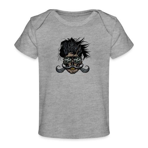 hipster skull tete de mort crane barbu moustache - T-shirt bio Bébé