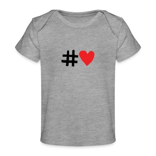#Love - Økologisk T-shirt til baby