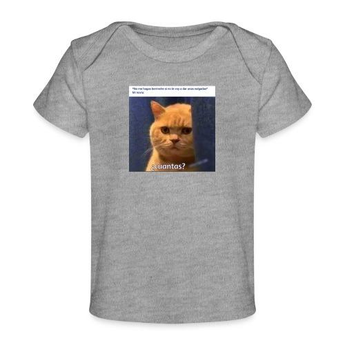 Cat nalgadas - Camiseta orgánica para bebé