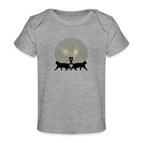 Cats in the moonlight - Baby bio-T-shirt