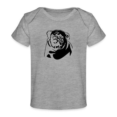 English Bulldog - negative - Vauvojen luomu-t-paita