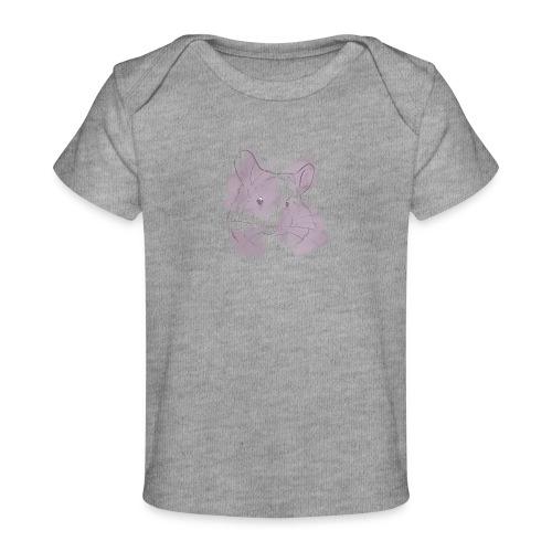 Violet splash chinchilla 2 - Vauvojen luomu-t-paita