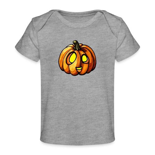 Pumpkin Halloween watercolor scribblesirii - Baby Bio-T-Shirt