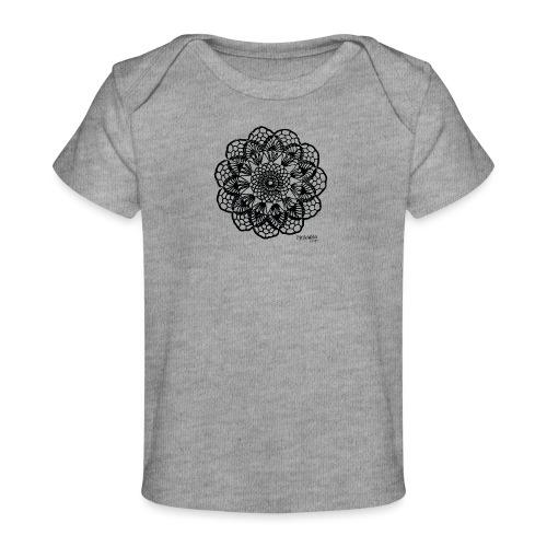 Grannys flower, musta - Vauvojen luomu-t-paita