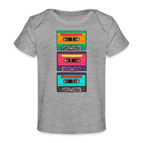Colorful Cassettes row - Ekologisk T-shirt baby