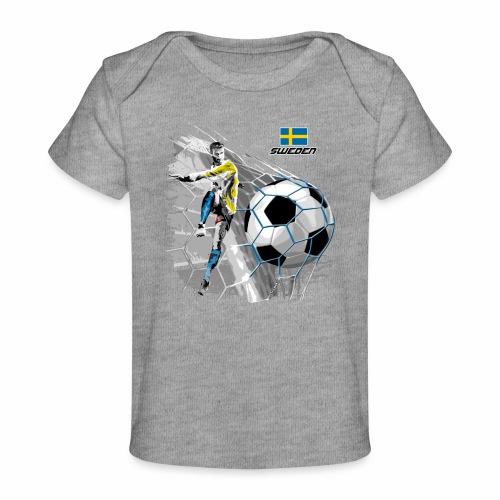FP22F 16 SWEDEN FOOTBALL - Vauvojen luomu-t-paita