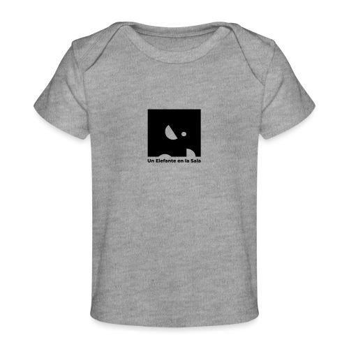 Logo Elefante Negro - Camiseta orgánica para bebé