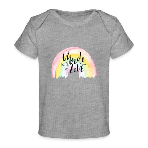 Made with Love Rainbow Baby - Baby Bio-T-Shirt