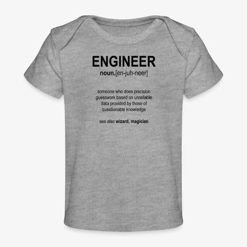 Engineer Def. 1 (Black) - T-shirt bio Bébé