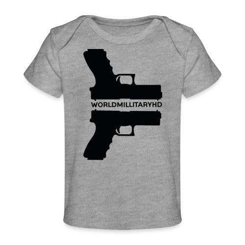 WorldMilitaryHD Glock design (black) - Baby bio-T-shirt